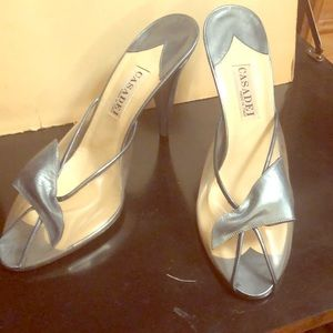 Casadei open toe heels shoes size 10  for formal